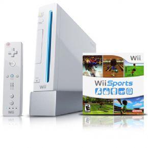 Foto Nintendo Wii Branco Retrocompátivel Destravado na Caixa - Seminovo