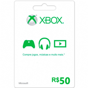 Foto Cartão R$ 50,00 Microsoft Points (BRASIL)