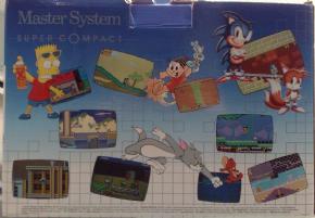 Foto Master System Super Compact + Sonic na Memória (Seminovo)