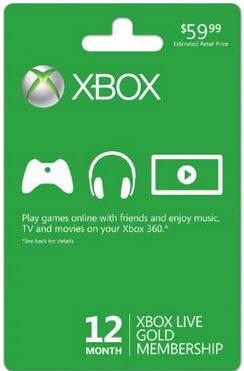 Foto Cartão Assinatura Xbox Live Gold 12 meses (USA)