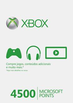 Foto Cartão 4500 Microsoft Points (BRASIL)