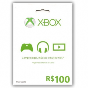 Foto Cartão R$ 100,00 Microsoft Points (BRASIL)