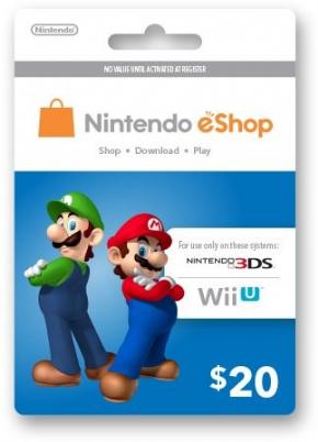 Foto Cartão 20 U$ eShop