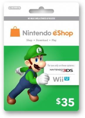 Foto Cartão 35 U$ eShop