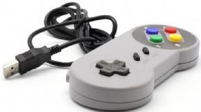 Foto Controle Super Nintendo USB