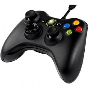 Foto Controle Xbox 360 / Pc Com Fio Black - Original Microsoft (Seminovo)