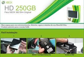 Foto HD 250GB XBOX 360 Slim Original (Seminovo)