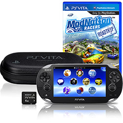 Foto PlayStation Vita Wi-Fi Bundle Modnation + 4GB + Jogo +Bolsa! (Seminovo)