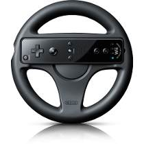 Foto Volante Wii Wheel Original Nintendo - Preto