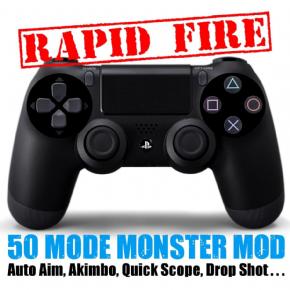 Foto Controle Sony Playstation 4 - Dual Shock 4 - Rapid Fire - Seminovo