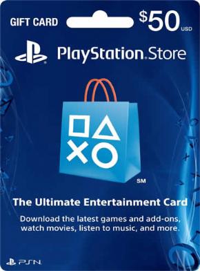 Foto Cartão Playstation Network U$50 (USA)