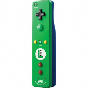 Foto Controle Remote Motion Plus Wii U - Luigi (Seminovo)