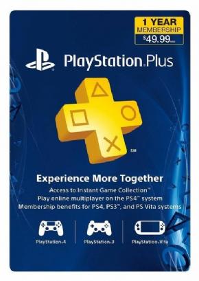 Foto Cartão Playstation Plus 12 Meses (USA)