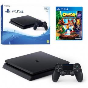 Foto Sony Playstation 4 Slim 500GB Bundle Crash Bandicoot + Garantia ZG!