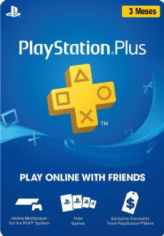 Foto Cartão Playstation Plus 03 Meses - BRASIL