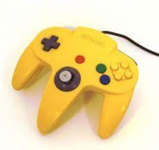 Foto Controle Nintendo 64 - Amarelo - Seminovo