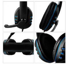 Foto Headset Gamer Lehmox LEF 1020 P3 Azul XBOX ONE PS4 PS5 Celular