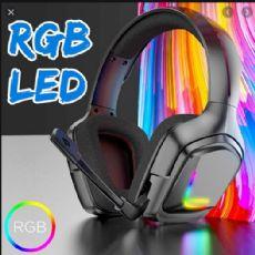 Foto Headset Gamer Onikuma K20 Preto Com Luz Rgb Led