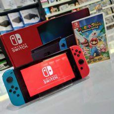Foto Nintendo Switch Neon Blue and Neon Red Joy-Con + Frete Grátis + Garantia ZG! -Seminovo