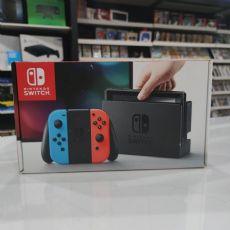 Foto Nintendo Switch Neon Blue and Neon Red Joy-Con + Frete Grátis + Garantia ZG!