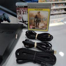 Foto Playstation 3 Slim 160GB + Frete Grátis + Garantia ZG!