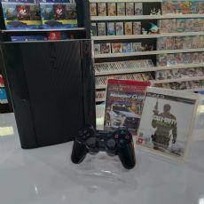 Foto Playstation 3 Super Slim HD 250GB + 02 Jogos + Frete Grátis + Garantia ZG! - Seminovo