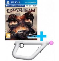 Foto Playstation VR Aim Controller + Bravo Team - Seminovo