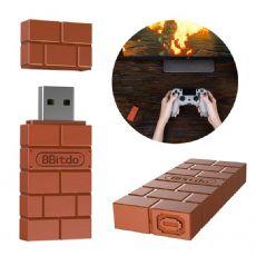 Foto Receptor Sem Fio Portátil Gamepad Adaptador De 8bitdo Para Nintendo Switch