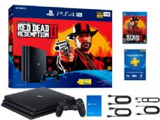 Foto Sony Playstation 4 Pro 1TB + Red Dead 2 + Frete Grátis + Garantia ZG! - Seminovo