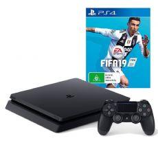 Foto Sony Playstation 4 Slim 1TB + FIFA 19 + 3 Anos de Garantia POUCAS UNIDADES