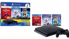 Foto Sony Playstation 4 Slim 1TB Mega Pack 10 + 03 Anos de Garantia ZG!