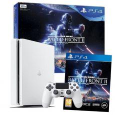 Foto Sony Playstation 4 Slim 500GB White  Bundle Star Wars + 03 Anos de Garantia