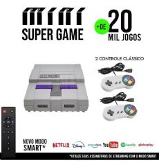 Video Game Retro Gamer Retro Box Super Game Box 20.000 Jogos + Controle e Game Super Nintendo