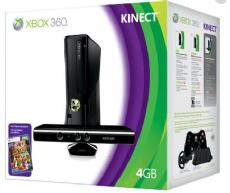 Foto XBOX 360 Slim 4GB + Kinect LT 3.0 + Garantia ZG! - Seminovo